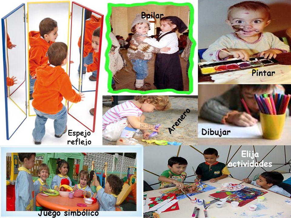Espejo reflejo Bailar Dibujar Elija actividades Juego simbólico Pintar Dibujar Arenero