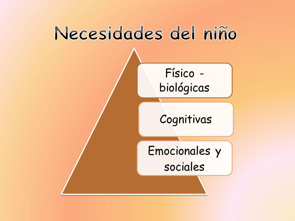 Físico - biológicas Cognitivas Emocionales y sociales