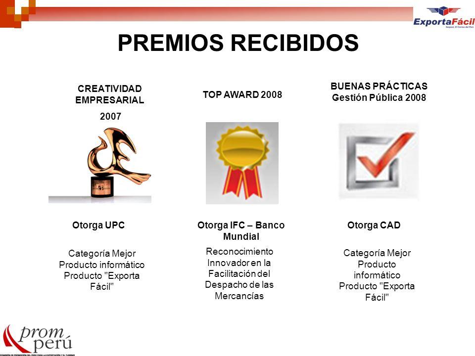 PREMIOS RECIBIDOS Categoría Mejor Producto informático Producto