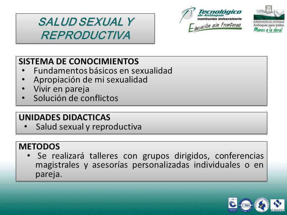 SISTEMA DE CONOCIMIENTOS Fundamentos básicos en sexualidad Apropiación de mi sexualidad Vivir en pareja Solución de conflictos SISTEMA DE CONOCIMIENTO