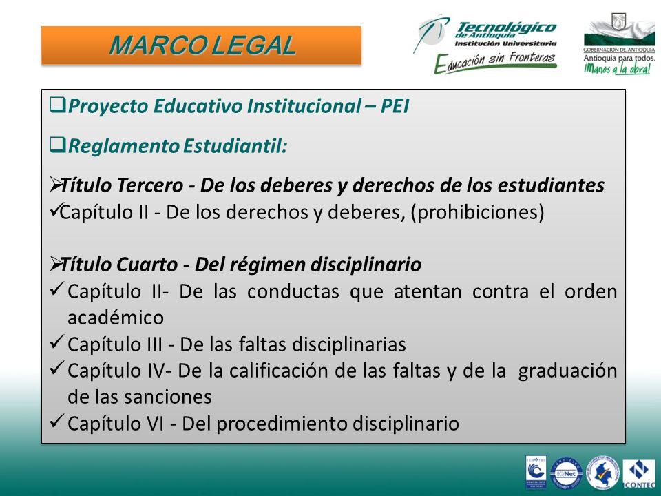 Proyecto Educativo Institucional – PEI Reglamento Estudiantil: Título Tercero - De los deberes y derechos de los estudiantes Capítulo II - De los dere
