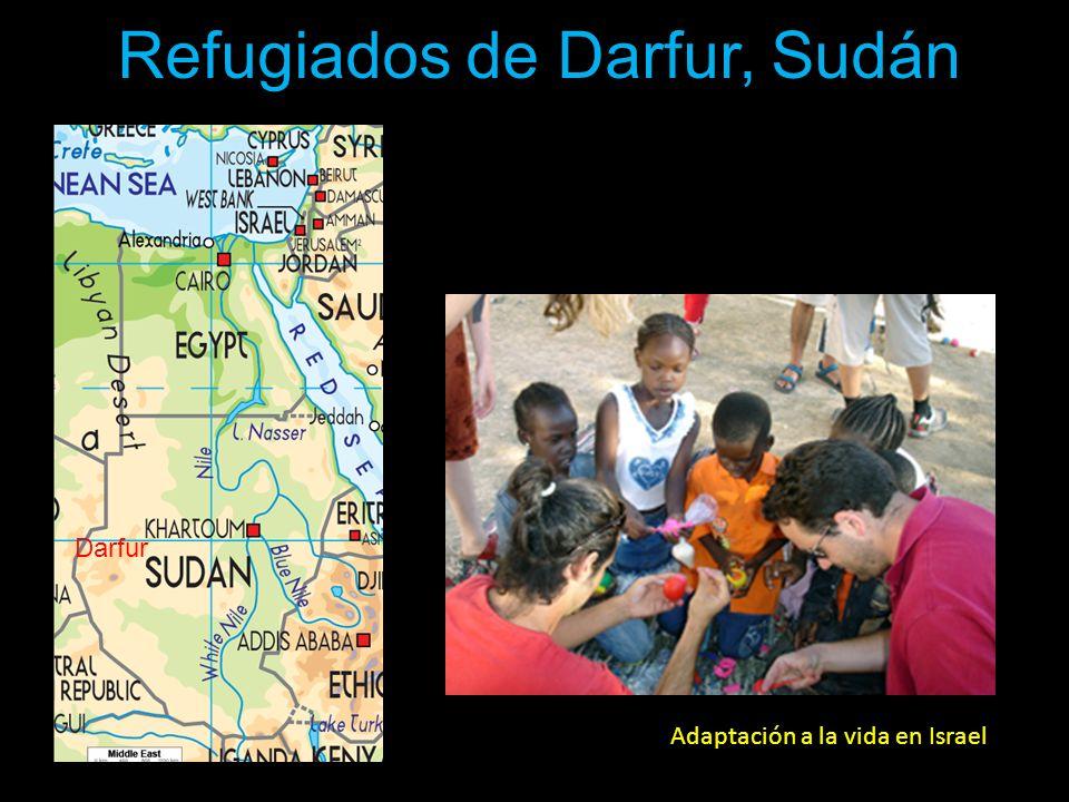 Adaptación a la vida en Israel Refugiados de Darfur, Sudán Darfur