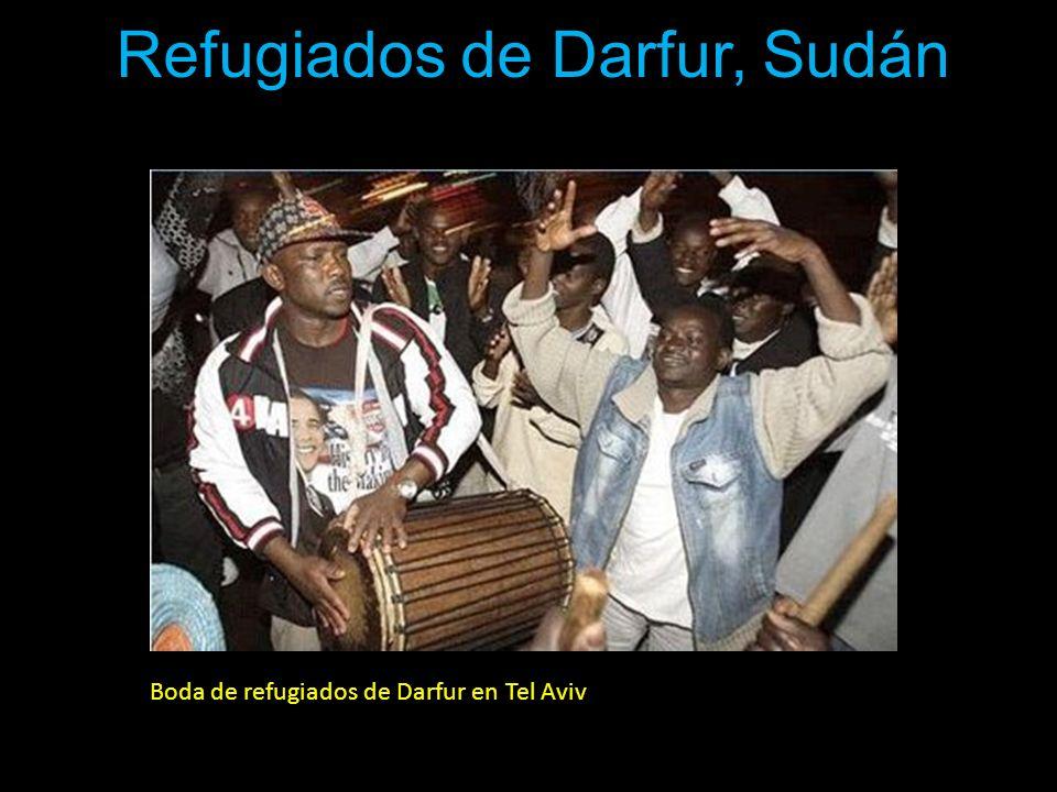 Boda de refugiados de Darfur en Tel Aviv Refugiados de Darfur, Sudán