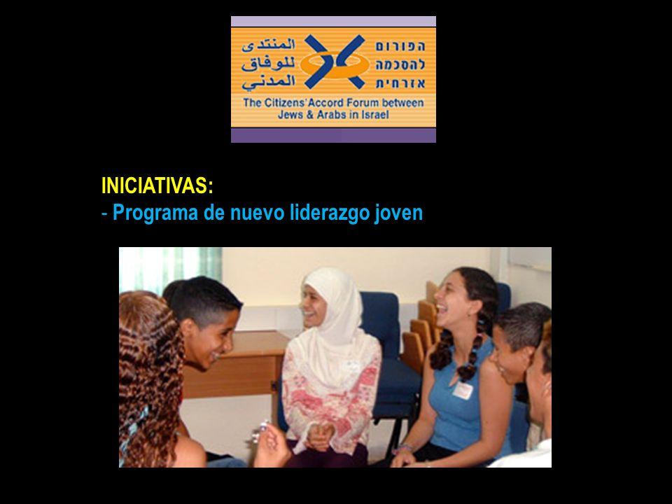INICIATIVAS: - Programa de nuevo liderazgo joven