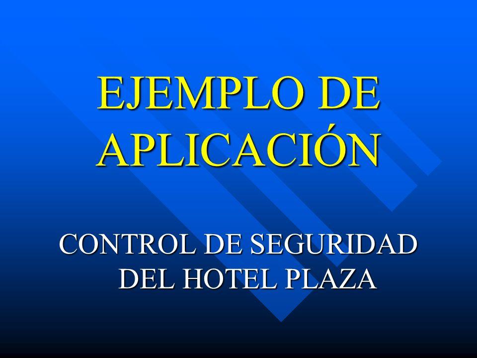 EJEMPLO DE APLICACIÓN CONTROL DE SEGURIDAD DEL HOTEL PLAZA