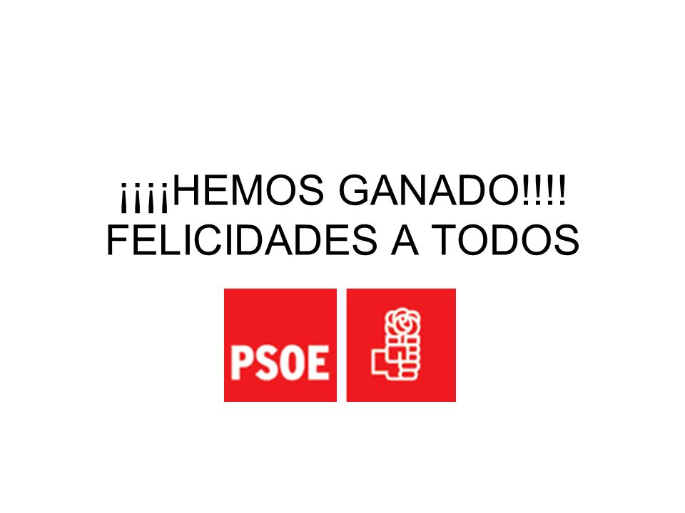 ¡¡¡¡HEMOS GANADO!!!! FELICIDADES A TODOS