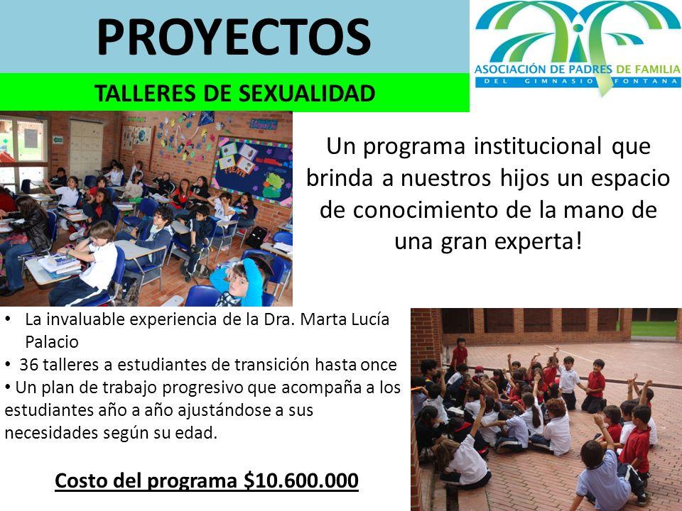 PROYECTOS TALLERES DE SEXUALIDAD La invaluable experiencia de la Dra.