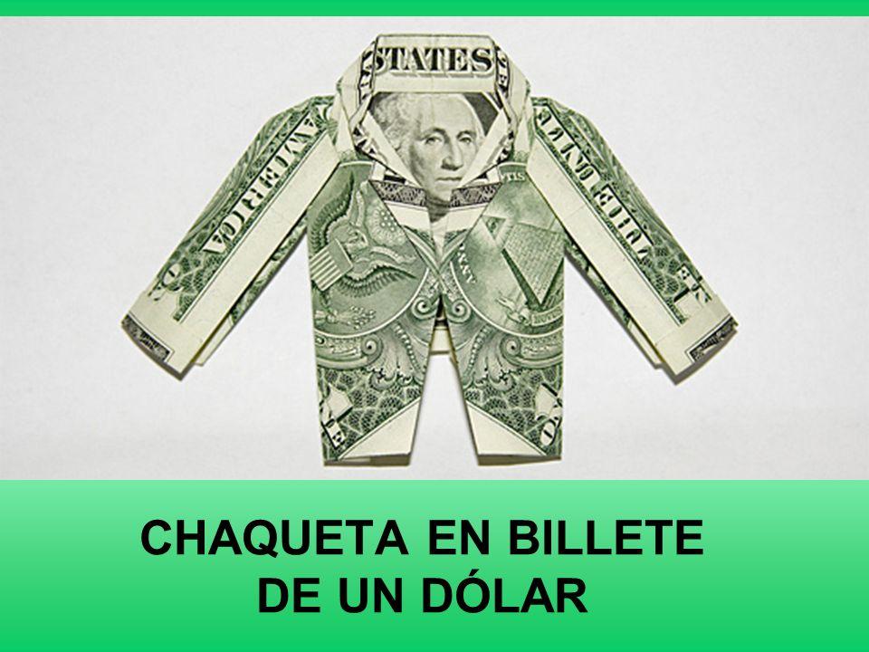 CHAQUETA EN BILLETE DE UN DÓLAR