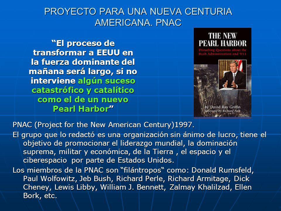 PROYECTO PARA UNA NUEVA CENTURIA AMERICANA.PNAC PNAC (Project for the New American Century)1997.