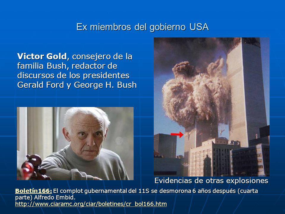 Ex miembros del gobierno USA Victor Gold, consejero de la familia Bush, redactor de discursos de los presidentes Gerald Ford y George H.