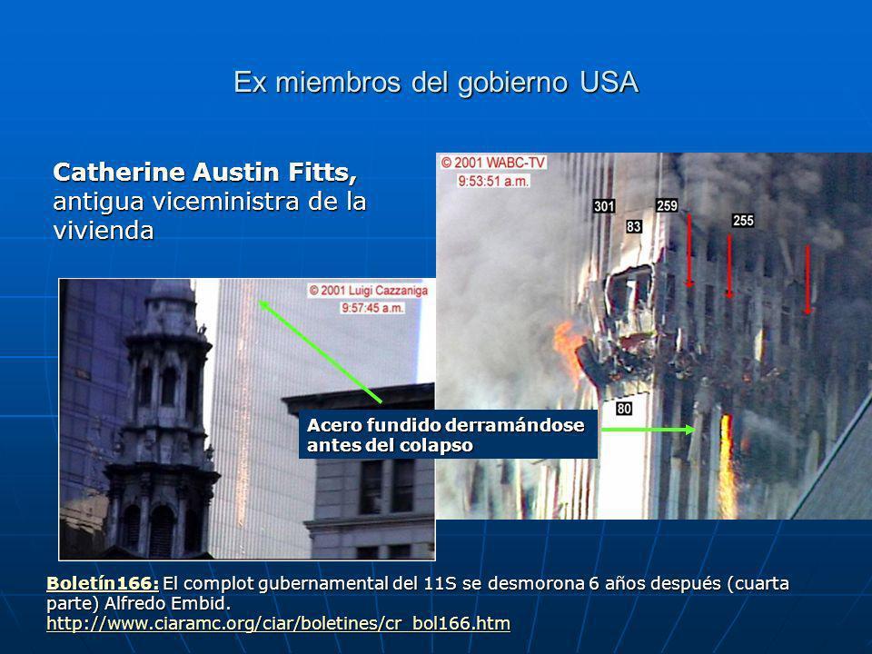 Ex miembros del gobierno USA Catherine Austin Fitts, antigua viceministra de la vivienda Boletín166:Boletín166: El complot gubernamental del 11S se desmorona 6 años después (cuarta parte) Alfredo Embid.