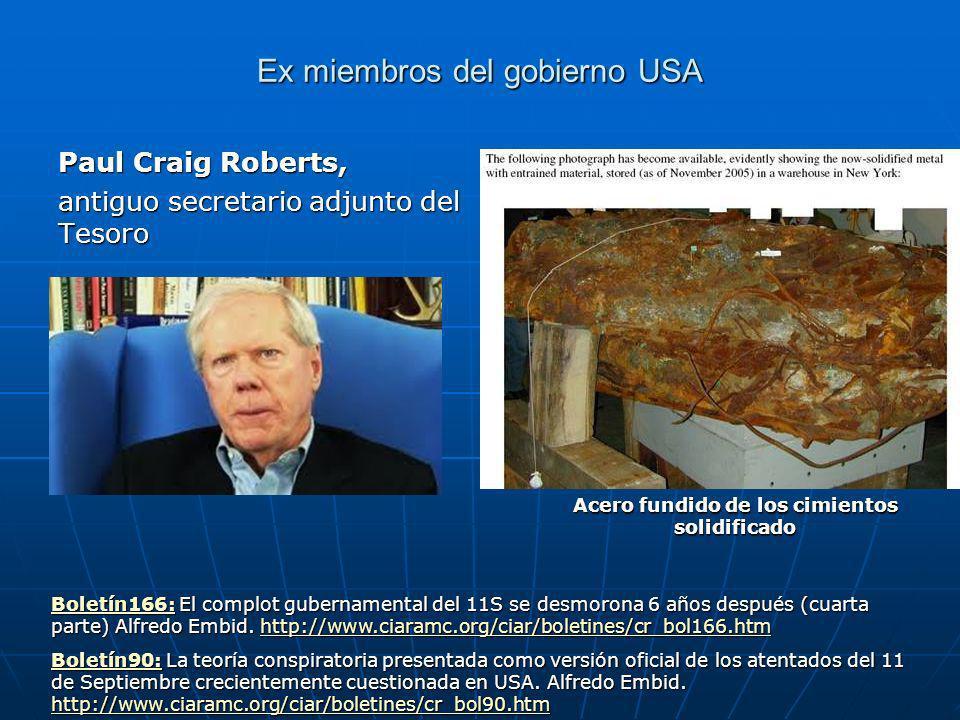 Ex miembros del gobierno USA Paul Craig Roberts, antiguo secretario adjunto del Tesoro Boletín166:Boletín166: El complot gubernamental del 11S se desmorona 6 años después (cuarta parte) Alfredo Embid.