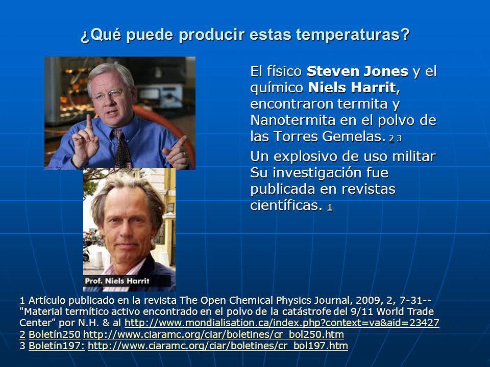 ¿Qué puede producir estas temperaturas.