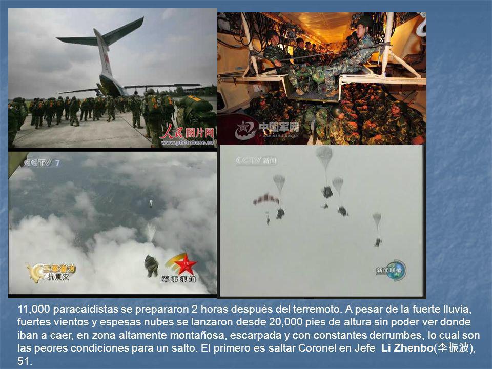 11,000 paracaidistas se prepararon 2 horas después del terremoto.