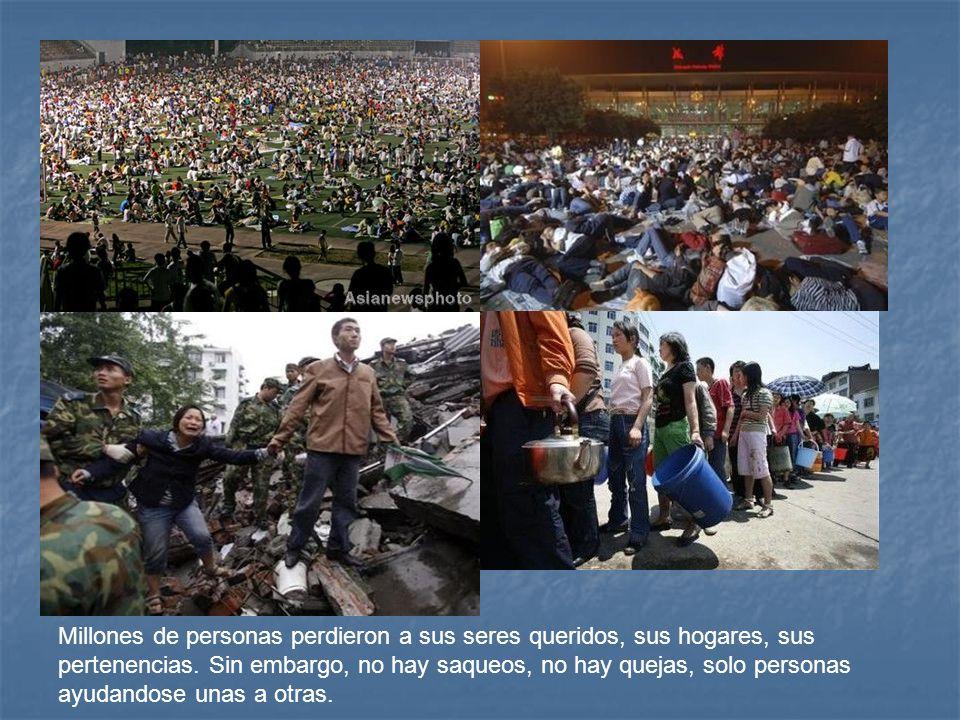 Millones de personas perdieron a sus seres queridos, sus hogares, sus pertenencias.