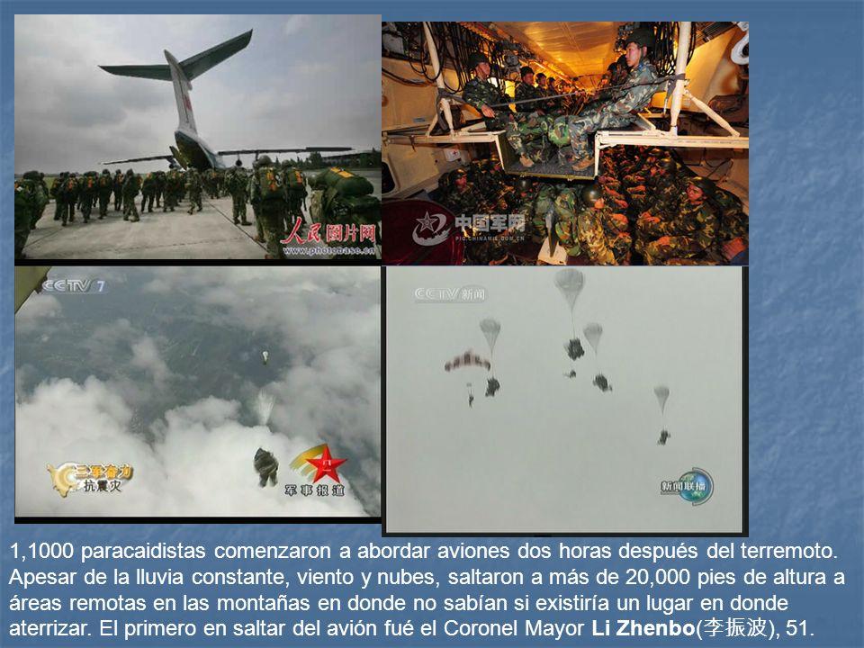 1,1000 paracaidistas comenzaron a abordar aviones dos horas después del terremoto.