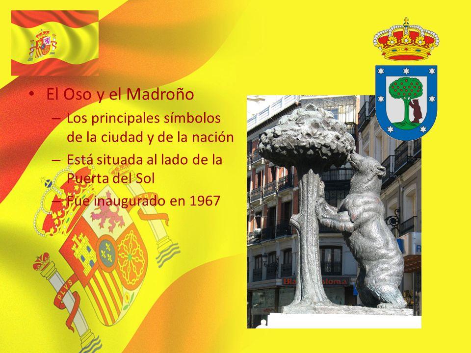 El Oso y el Madroño – Los principales símbolos de la ciudad y de la nación – Está situada al lado de la Puerta del Sol – Fue inaugurado en 1967