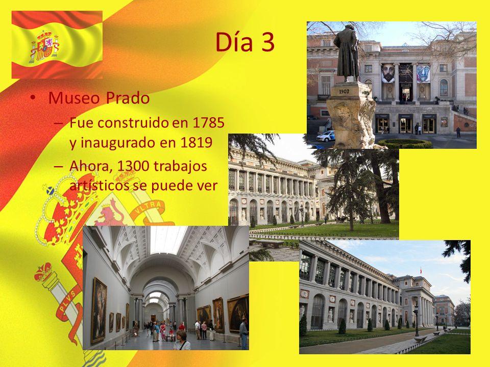 Día 3 Museo Prado – Fue construido en 1785 y inaugurado en 1819 – Ahora, 1300 trabajos artísticos se puede ver