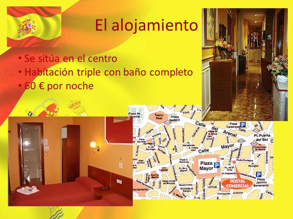 El alojamiento Se sitúa en el centro Habítación triple con baño completo 60 por noche