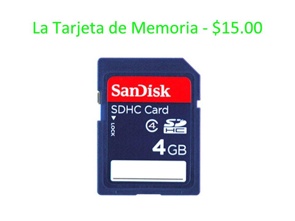 La Tarjeta de Memoria - $15.00