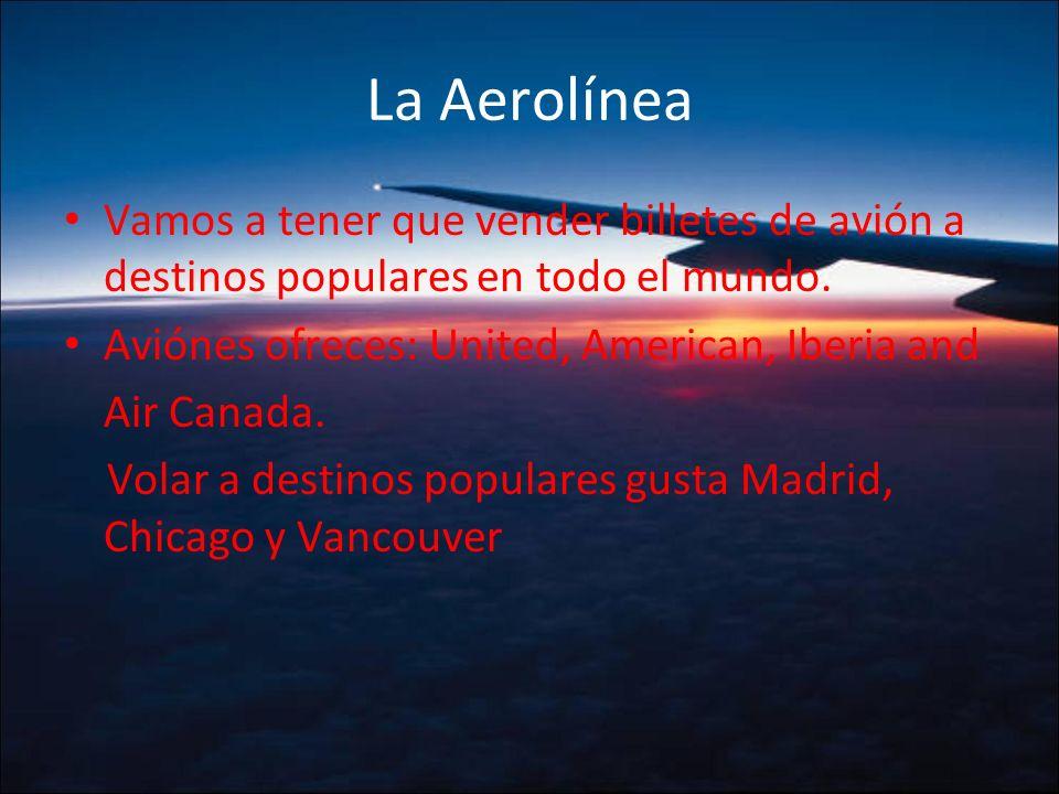 La Aerolínea Vamos a tener que vender billetes de avión a destinos populares en todo el mundo.