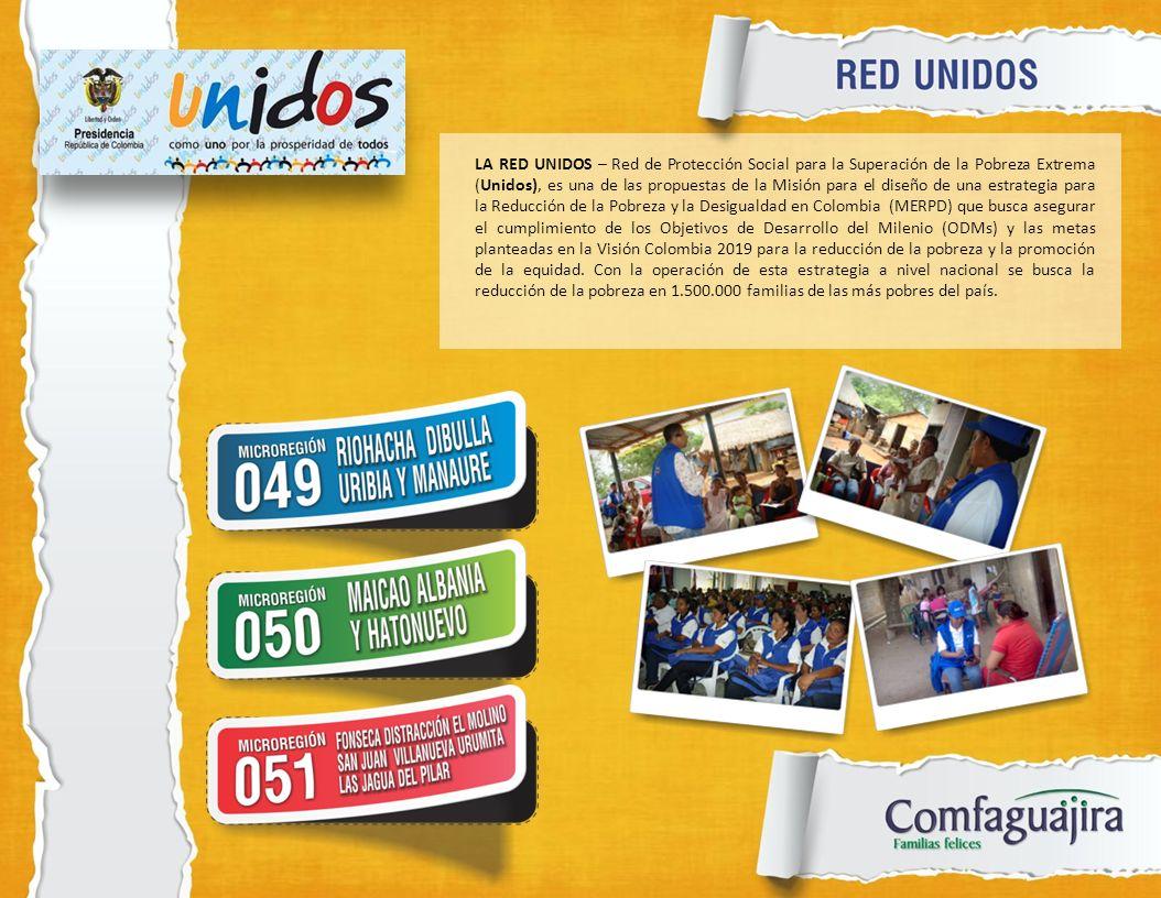 LA RED UNIDOS – Red de Protección Social para la Superación de la Pobreza Extrema (Unidos), es una de las propuestas de la Misión para el diseño de un