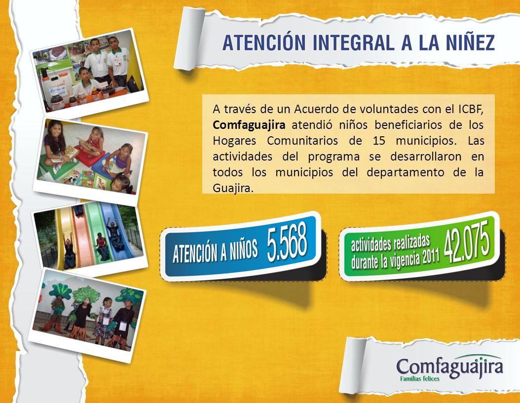 A través de un Acuerdo de voluntades con el ICBF, Comfaguajira atendió niños beneficiarios de los Hogares Comunitarios de 15 municipios. Las actividad