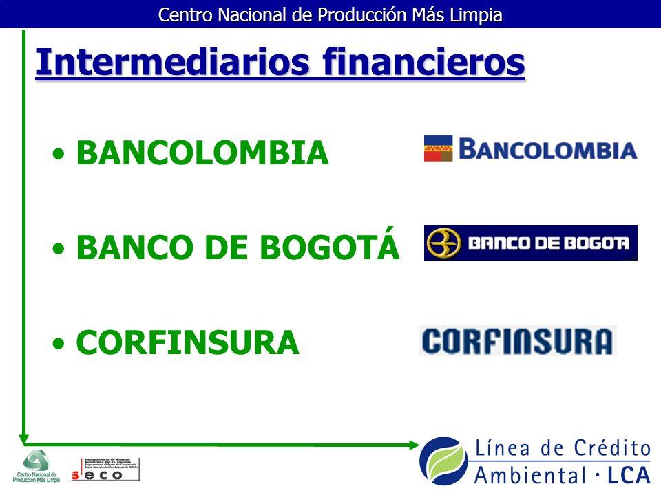 Centro Nacional de Producción Más Limpia ¿Qué papel desempeñan las entidades financieras.