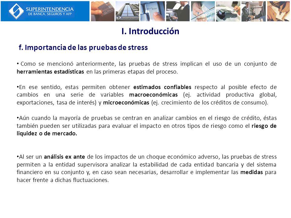 Como se mencionó anteriormente, las pruebas de stress implican el uso de un conjunto de herramientas estadísticas en las primeras etapas del proceso.