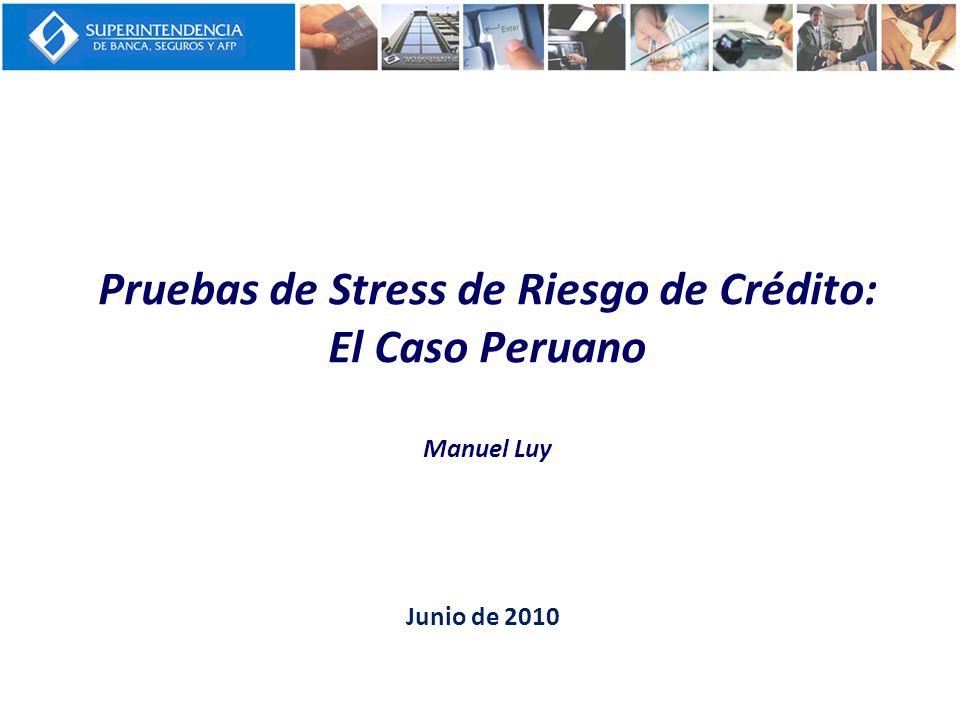 Pruebas de Stress de Riesgo de Crédito: El Caso Peruano Manuel Luy Junio de 2010