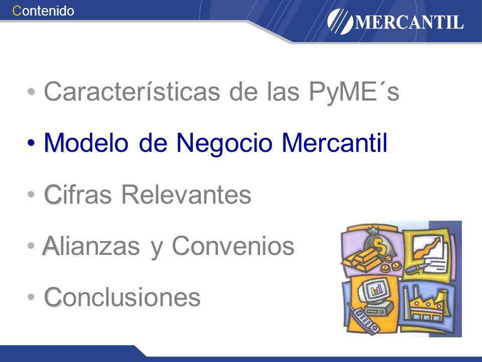 M Modelo de Negocio Mercantil C Cifras Relevantes A Alianzas y Convenios C Conclusiones Contenido