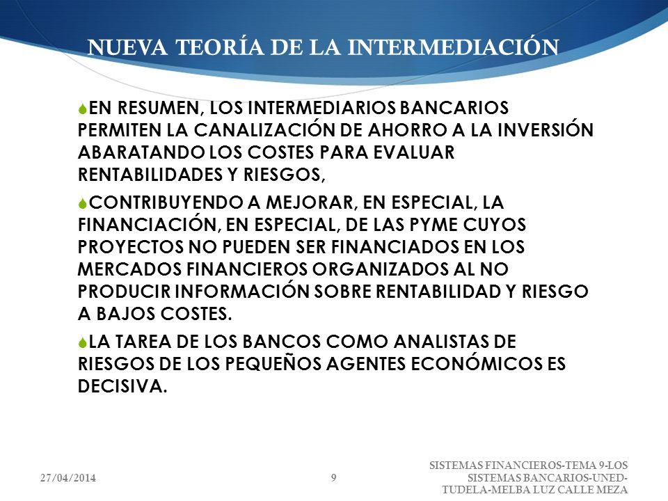 9.2.2.INSTITUCIONES QUE CONFORMAN EL SISTEMA BANCARIO ESPAÑOL E IMPORTANCIA CUANTITATIVA.