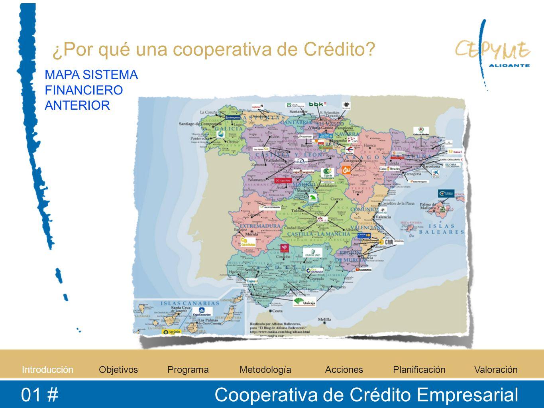 IntroducciónObjetivosProgramaMetodologíaAccionesPlanificaciónValoración 01 # Cooperativa de Crédito Empresarial ¿Por qué una cooperativa de Crédito? M