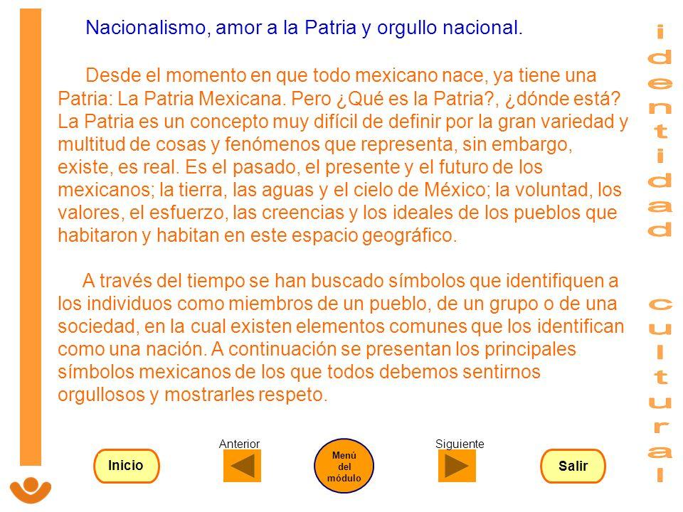 Nacionalismo, amor a la Patria y orgullo nacional. Desde el momento en que todo mexicano nace, ya tiene una Patria: La Patria Mexicana. Pero ¿Qué es l