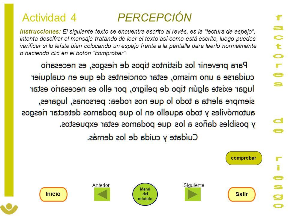 Instrucciones: El siguiente texto se encuentra escrito al revés, es la lectura de espejo, intenta descifrar el mensaje tratando de leer el texto así c