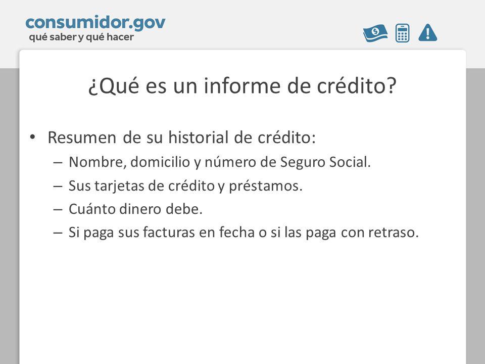 ¿Qué es un informe de crédito.