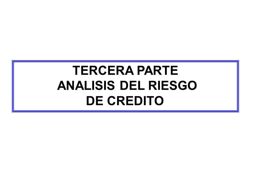 TERCERA PARTE ANALISIS DEL RIESGO DE CREDITO