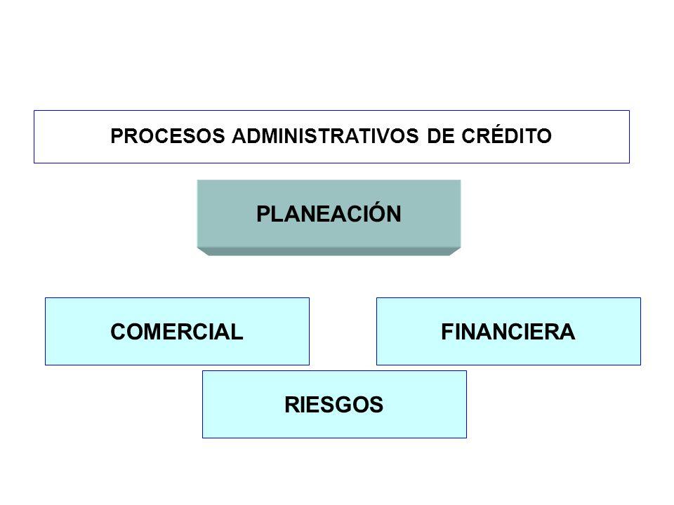 PROCESOS ADMINISTRATIVOS DE CRÉDITO PLANEACIÓN COMERCIALFINANCIERA RIESGOS
