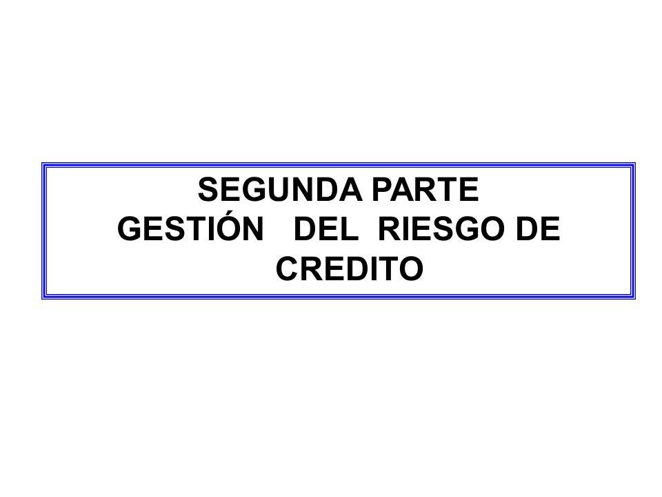 SEGUNDA PARTE GESTIÓN DEL RIESGO DE CREDITO