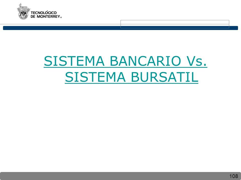 108 SISTEMA BANCARIO Vs. SISTEMA BURSATIL