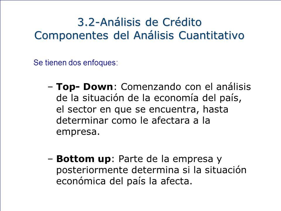 150 Se tienen dos enfoques: –Top- Down: Comenzando con el análisis de la situación de la economía del país, el sector en que se encuentra, hasta determinar como le afectara a la empresa.