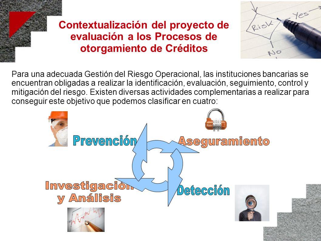 Contextualización del proyecto de evaluación a los Procesos de otorgamiento de Créditos Para una adecuada Gestión del Riesgo Operacional, las instituc