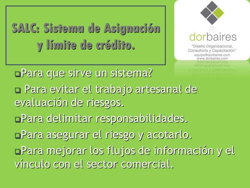 SALC: Sistema de Asignación y límite de crédito. Para que sirve un sistema.