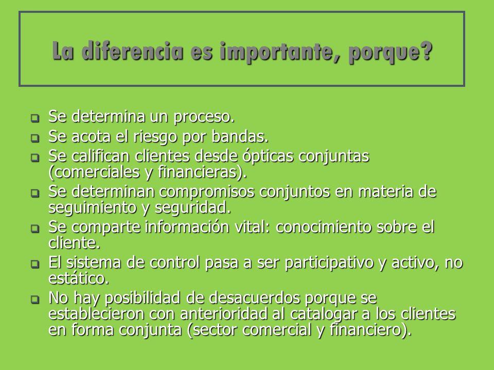 La diferencia es importante, porque. Se determina un proceso.