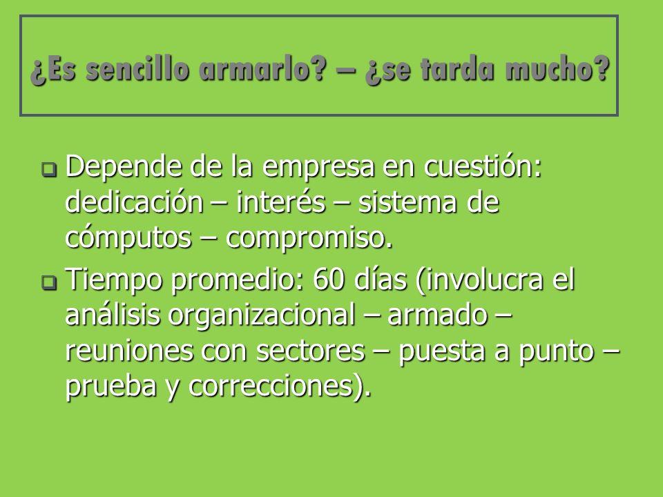 Beneficios Profesionalizar el trabajo (disminuye el riesgo del error humano y el trabajo artesanal).