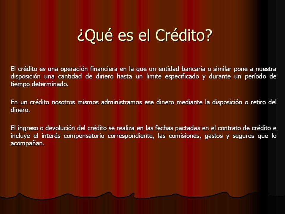 ¿Qué es el Crédito.