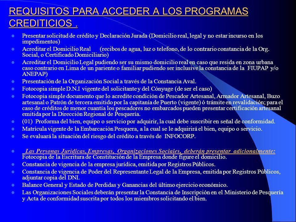 PROYECCION DE COLOCACIONES POR PROGRAMAS AÑO 2006.