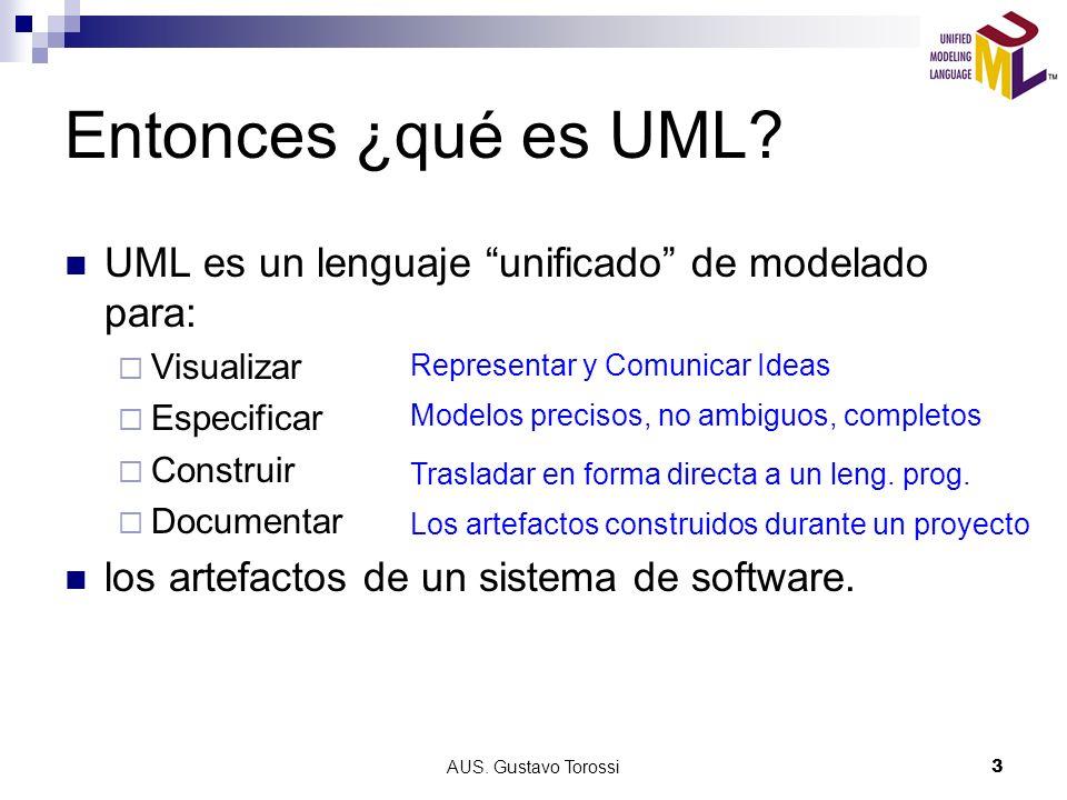 AUS.Gustavo Torossi3 Entonces ¿qué es UML.