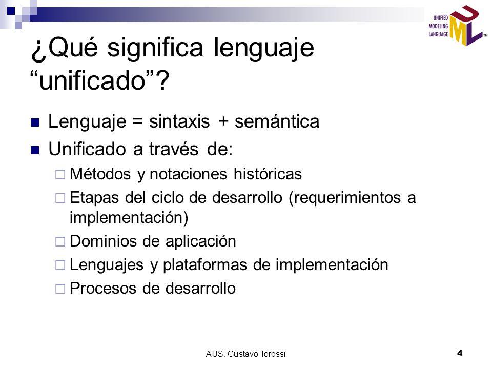 AUS. Gustavo Torossi5 Evolución histórica Nov 97 UML promulgado por la OMG