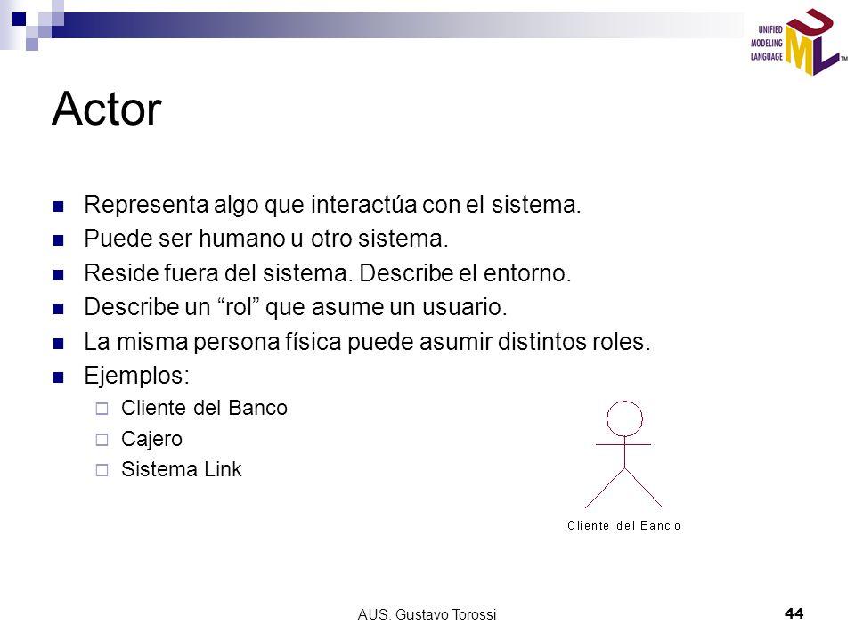 AUS.Gustavo Torossi44 Actor Representa algo que interactúa con el sistema.